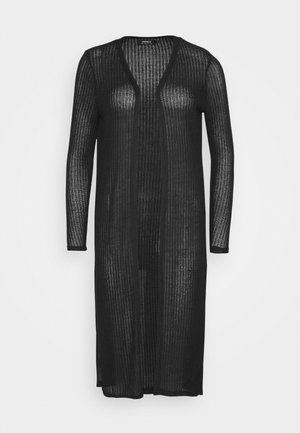 ONLDHAKA LONG SLIT CARDIGAN - Vest - black