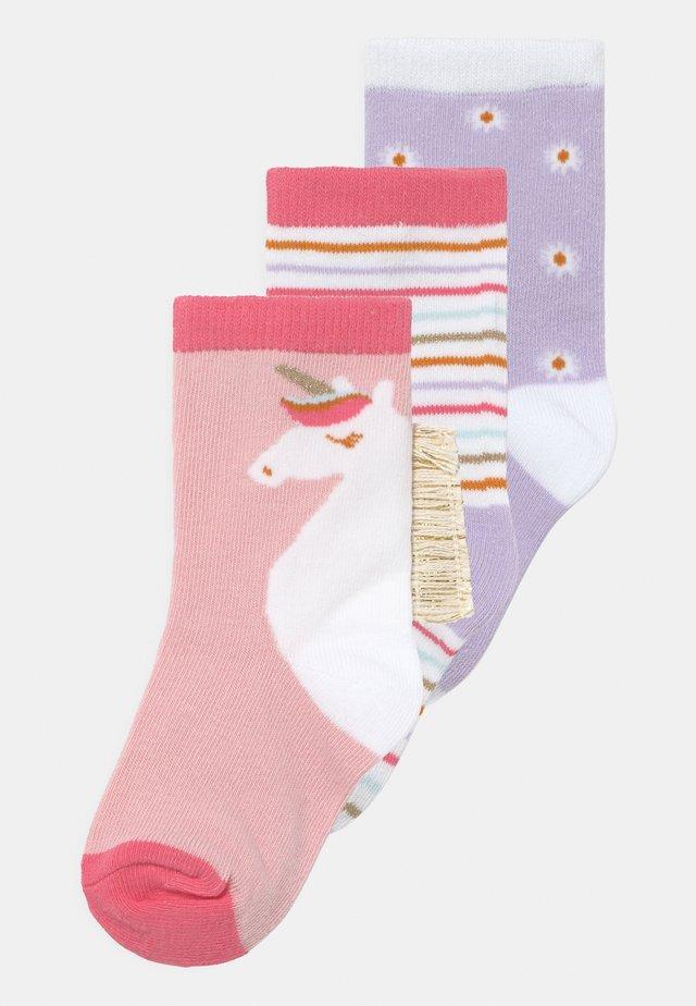 CREW 3 PACK - Ponožky - pink