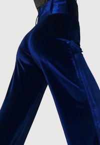 Missguided - BELTED WIDE LEG TROUSER - Trousers - navy - 5