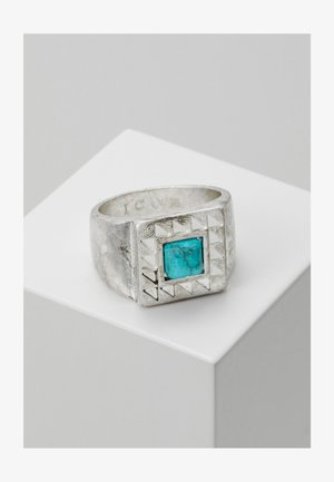 SQUARE WEST AFRICA - Anello - silver-coloured/turquoise
