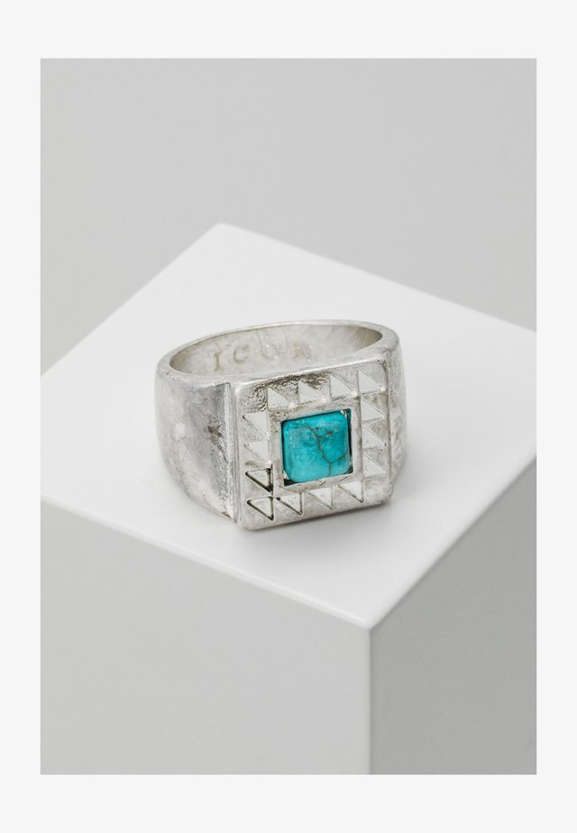 SQUARE WEST AFRICA - Ring - silver-coloured/turquoise