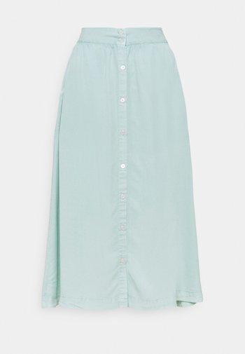 BELONIA - A-line skirt - aqua dusty wash