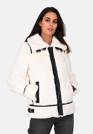 CULTURE - Winter coat - ivory