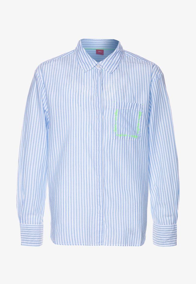 s.Oliver - LANGARM - Košile - light blue