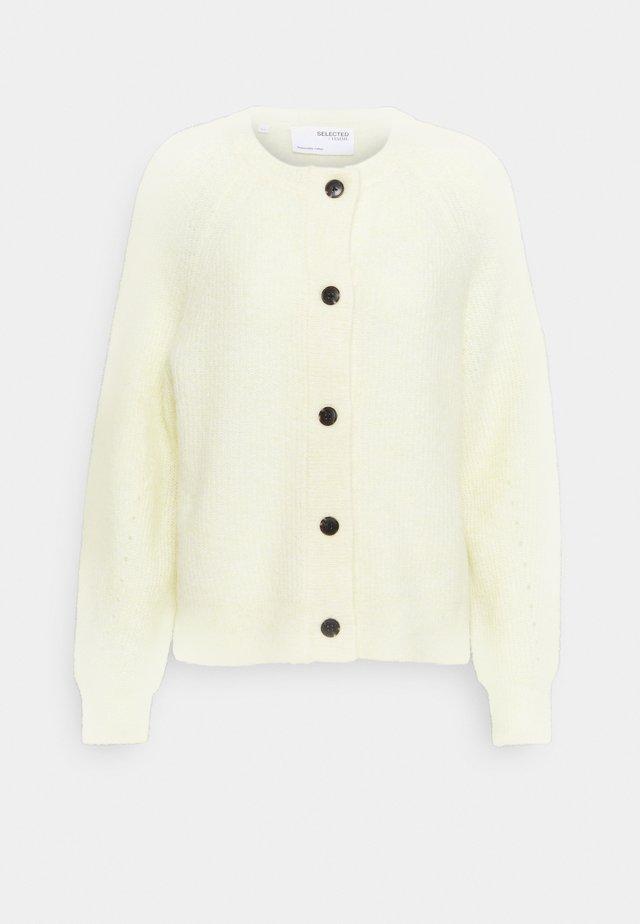 SLFLULU  - Strikjakke /Cardigans - pastel yellow