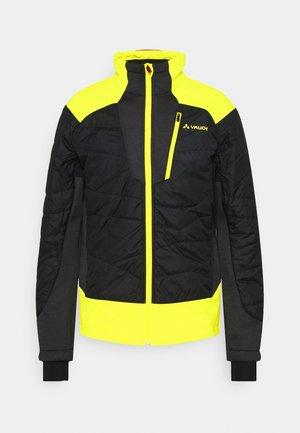 MENS MINAKI JACKET III - Soft shell jacket - black/yellow