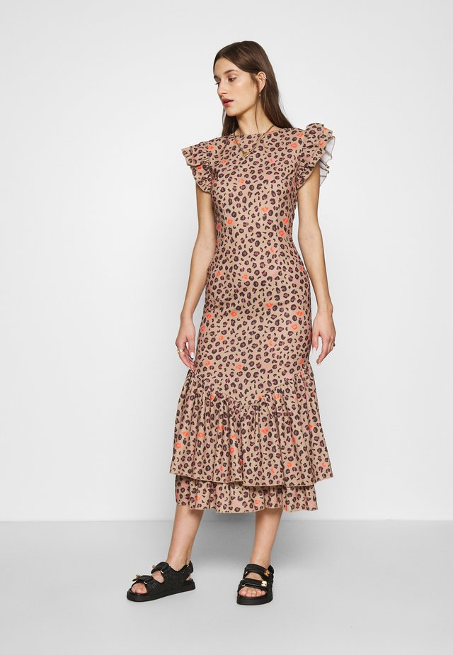 LEOPARD PRINT DRESS - Day dress - brown