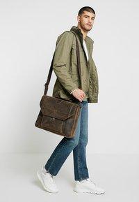 Strellson - HUNTER BRIEFBAG - Laptop bag - dark brown - 1