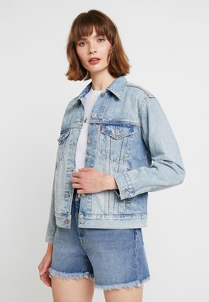 EX-BOYFRIEND TRUCKER - Jeansjacke - blue denim
