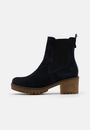BOOTS - Platform ankle boots - navy