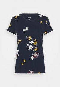 GAP Petite - CREW - Print T-shirt - navy - 0