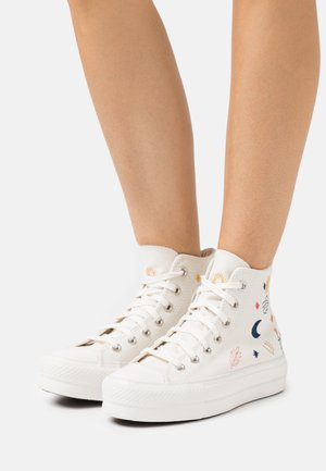 CHUCK TAYLOR ALL STAR LIFT - Høye joggesko - egret/vintage white/black
