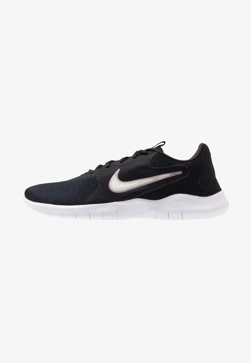 Nike Performance - FLEX EXPERIENCE RUN 9 - Competition running shoes - black/white/dark smoke grey