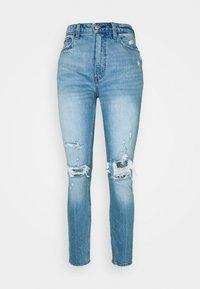 Abercrombie & Fitch - KNEE CURVE LOVE  - Jeans Skinny Fit - blue denim - 3