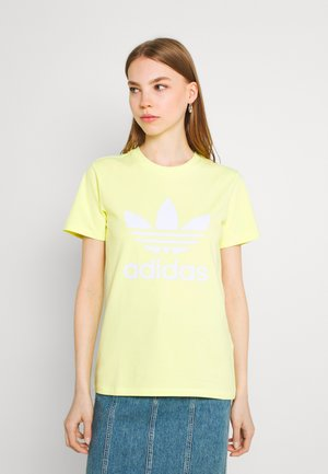 TREFOIL TEE - T-shirt con stampa - pulse yellow