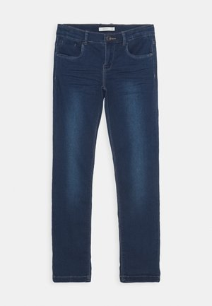 NKFSALLI DNMTHAYERS PANT - Vaqueros slim fit - dark blue denim