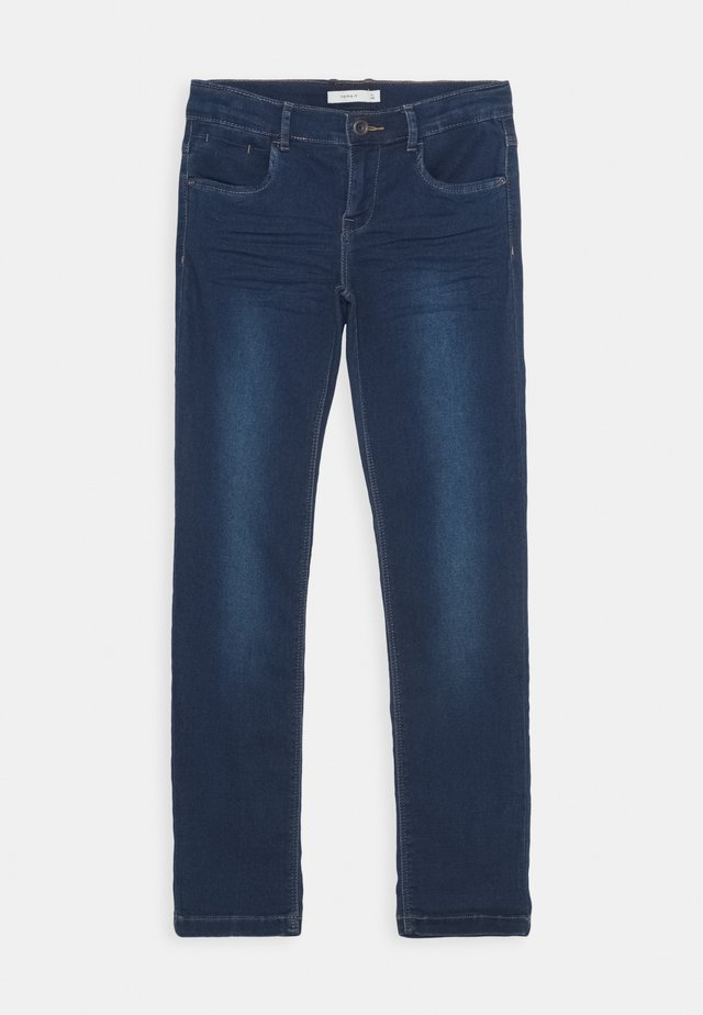 NKFSALLI DNMTHAYERS PANT - Slim fit jeans - dark blue denim