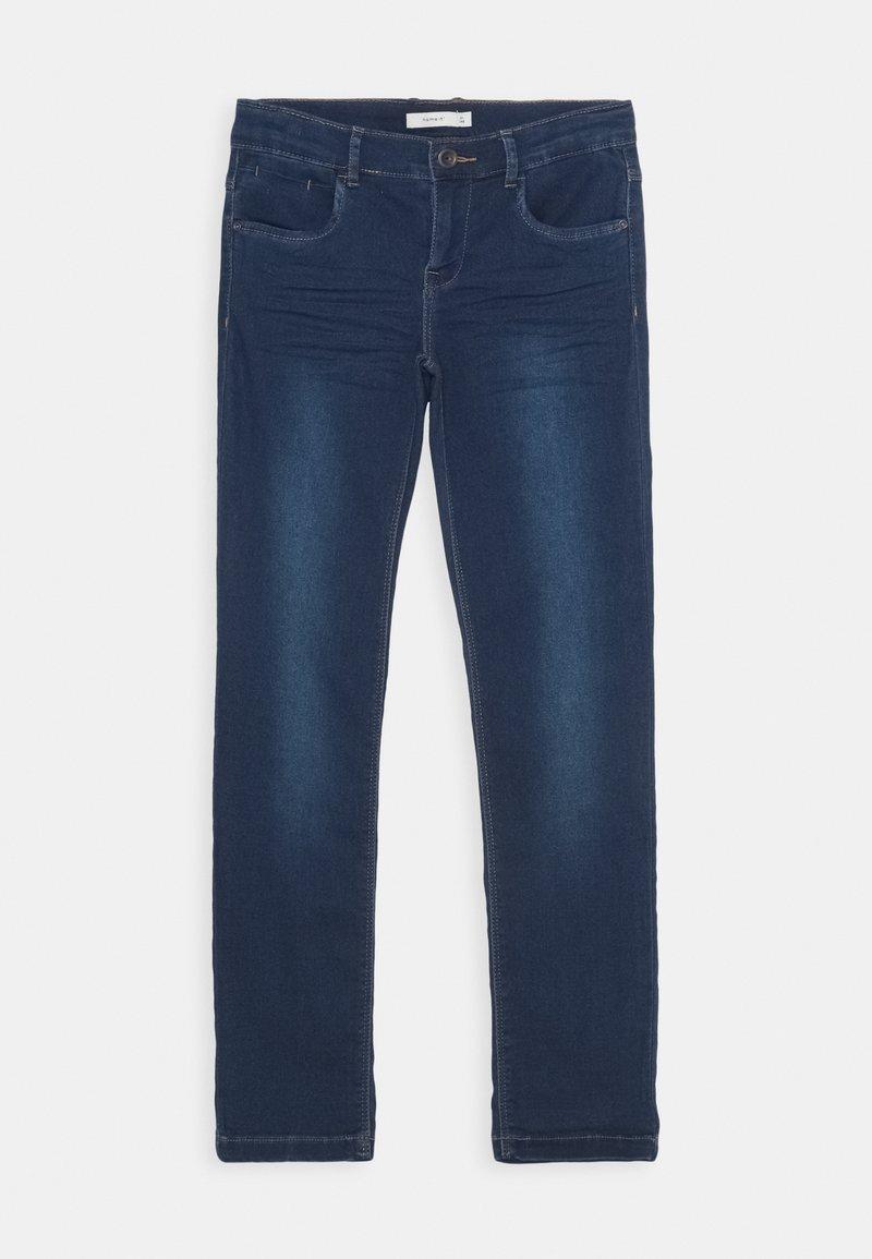 Name it - NKFSALLI DNMTHAYERS PANT - Jeans Slim Fit - dark blue denim