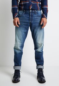 G-Star - SCUTAR 3D SLIM TAPERED - Jeans Tapered Fit - elto pure stretch denim- antic faded baum blue - 0