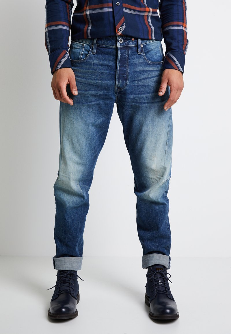 G-Star - SCUTAR 3D SLIM TAPERED - Jeans Tapered Fit - elto pure stretch denim- antic faded baum blue