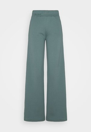 EXCLUSIVE HELLA SLIT PANTS - Tracksuit bottoms - sage green