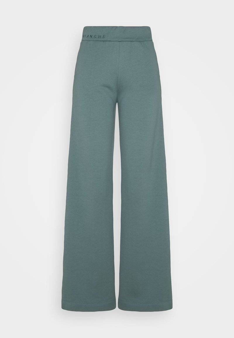 BLANCHE - EXCLUSIVE HELLA SLIT PANTS - Tracksuit bottoms - sage green