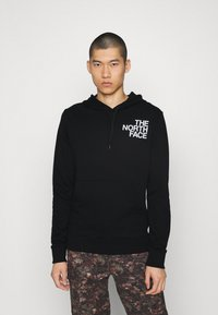 The North Face - OVERSIZE LOGO HOODIE - Mikina s kapucí - black/white - 0