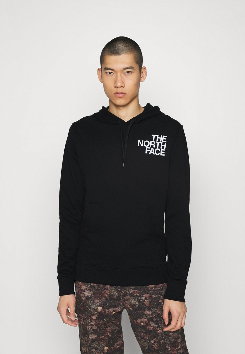 The North Face - OVERSIZE LOGO HOODIE - Mikina s kapucí - black/white