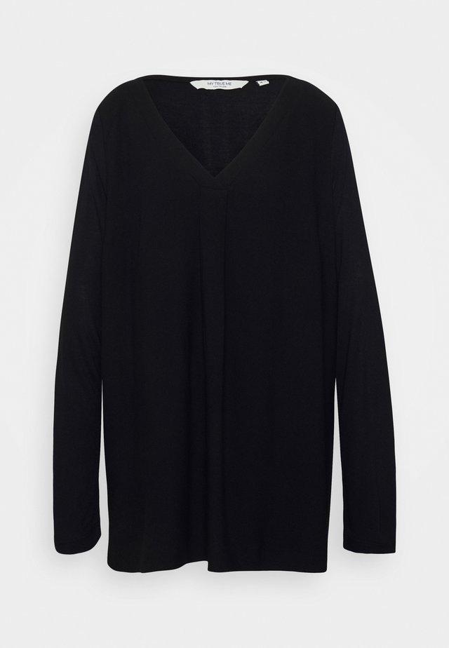 T-shirt à manches longues - deep black