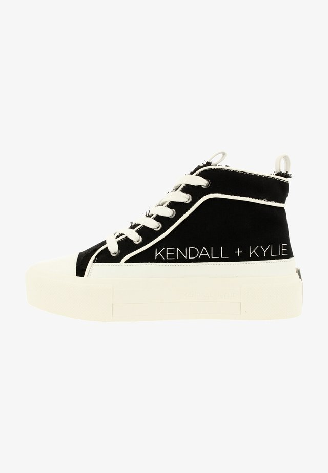 Sneakers hoog - black-white