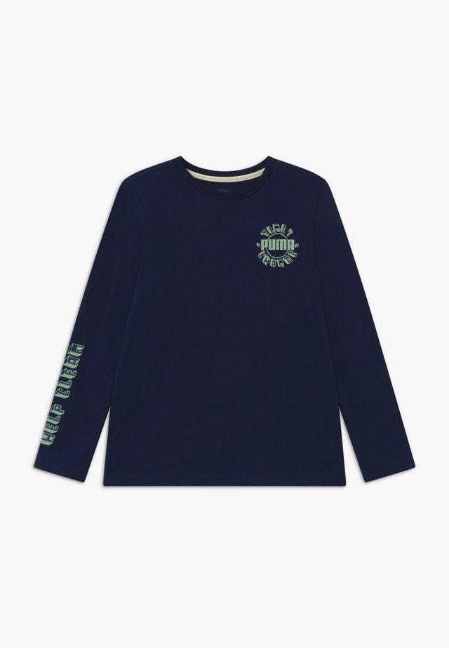 LONGSLEEVE TEE - Maglietta a manica lunga - peacoat