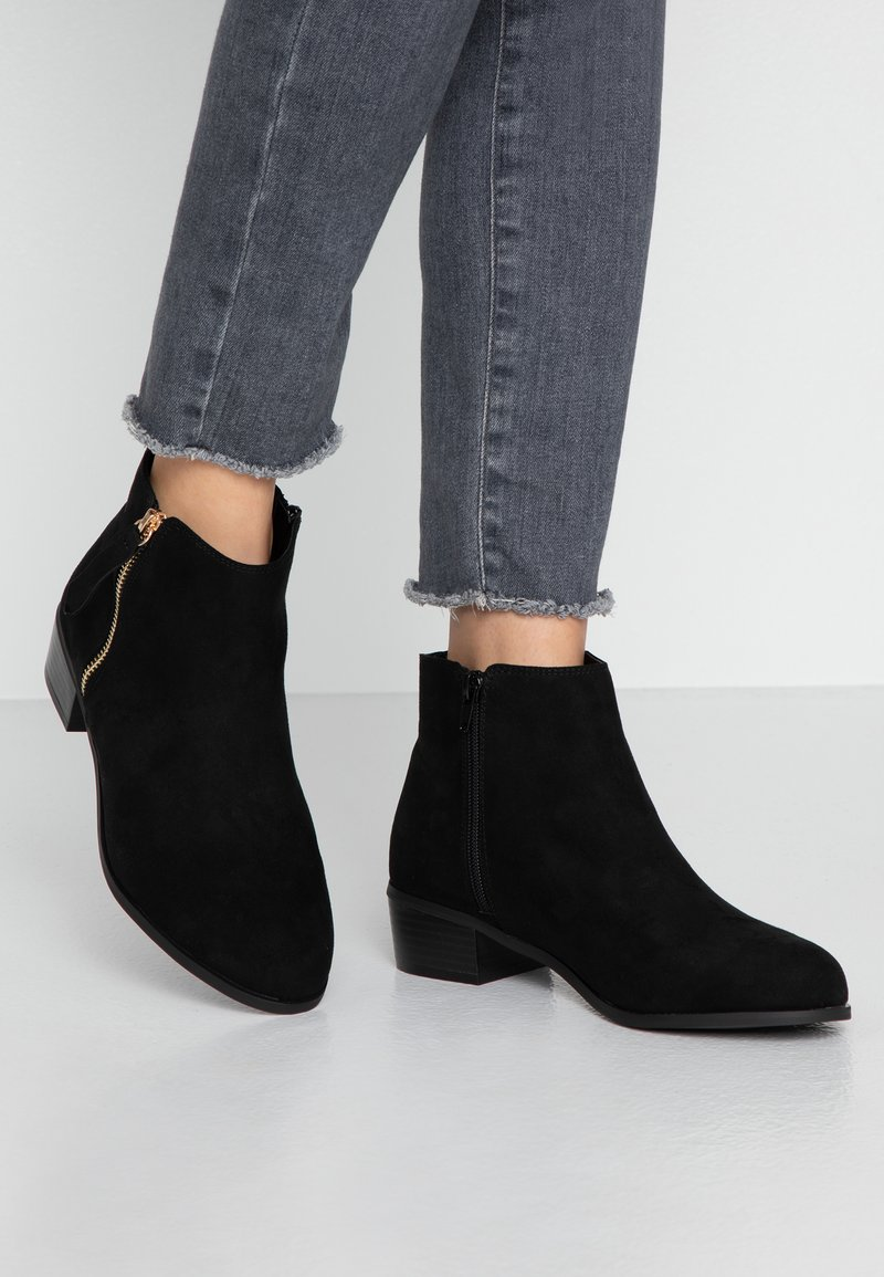 Faith Wide Fit - WIDE FIT WOOT - Ankle boots - black