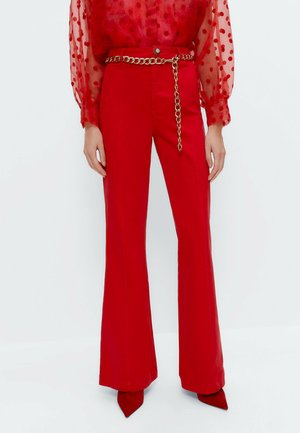 Flared Jeans - red
