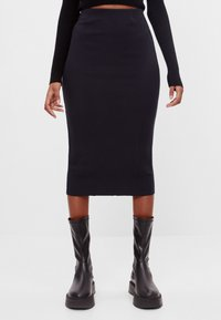 Bershka - Pencil skirt - black - 0