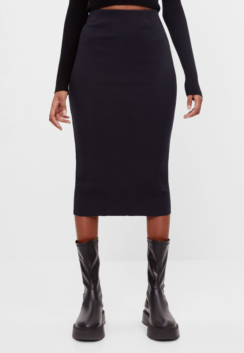 Bershka - Pencil skirt - black