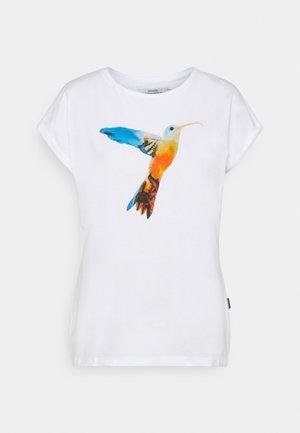VISBY PAINTED HUMMINGBIRD - Print T-shirt - white