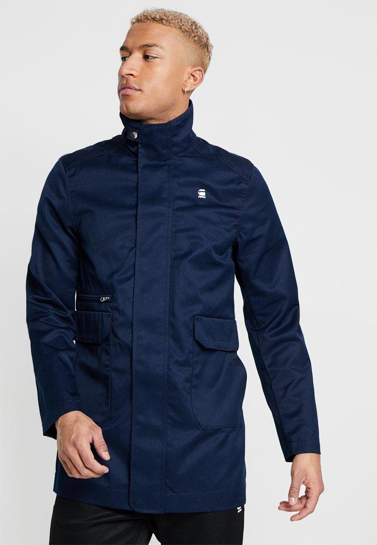 G-Star - GARBER SERVICE TRENCH - Short coat - sartho blue