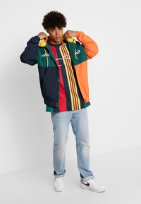 Karl Kani - SIGNATURE STRIPE TEE - Print T-shirt - green/navy/red/yellow - 1