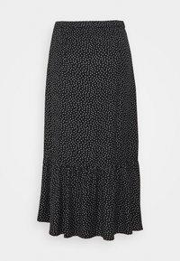Abercrombie & Fitch - RUFFLE HI SLIT MIDI SKIRT - A-line skirt - black - 1