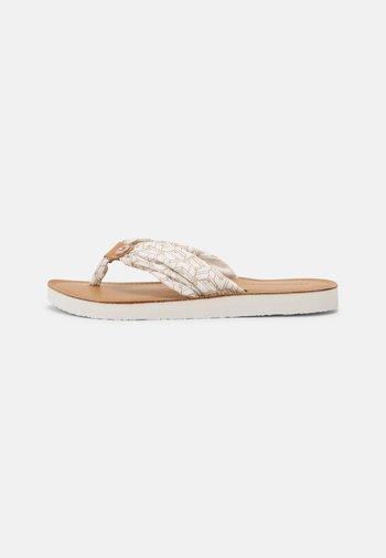 BEACH  - T-bar sandals - ecru