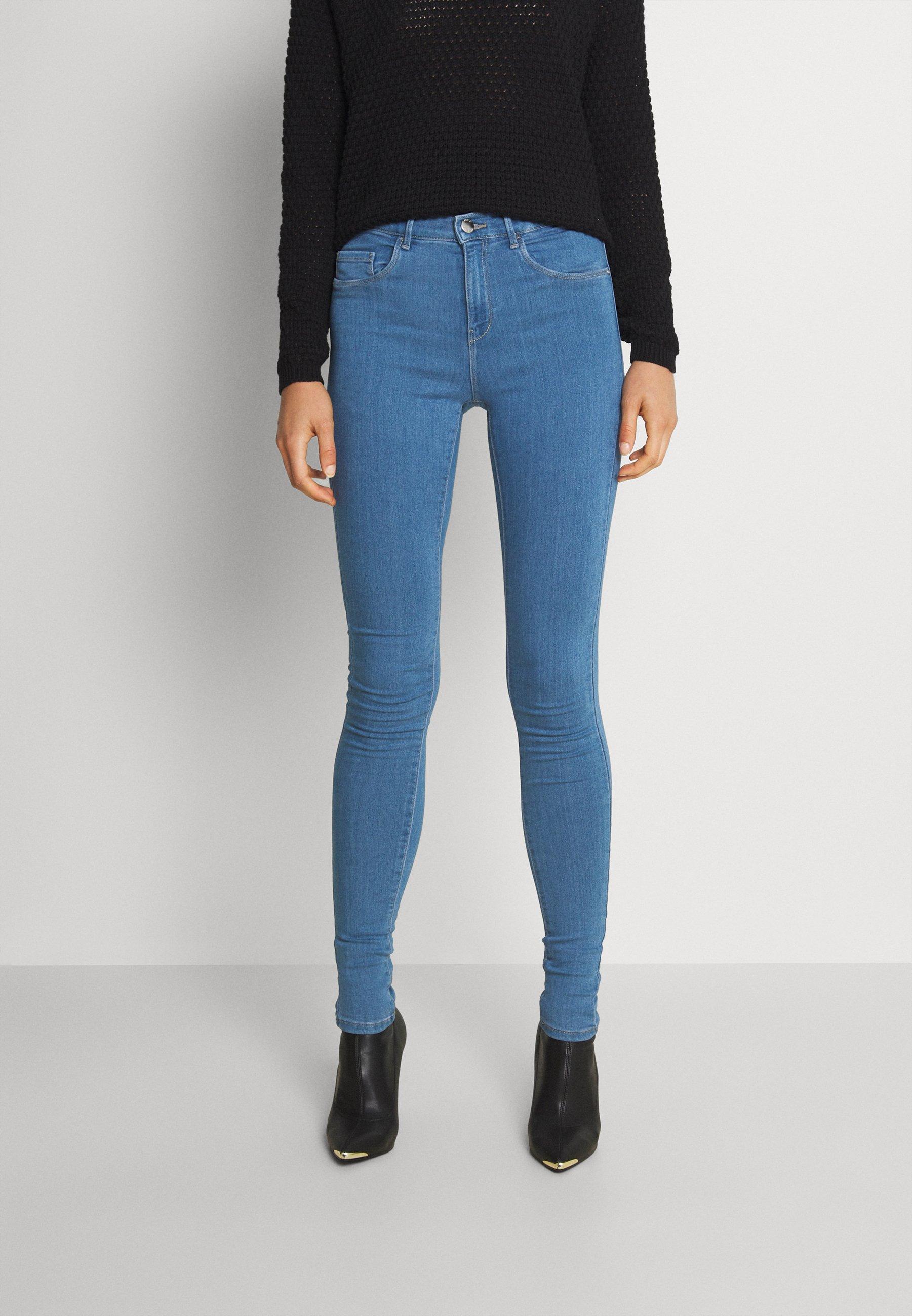 Donna ONLRAIN MID WAIST SKINNY FULL LENGH - Jeans Skinny Fit