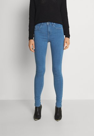 ONLRAIN MID WAIST SKINNY FULL LENGH - Skinny džíny - light blue denim