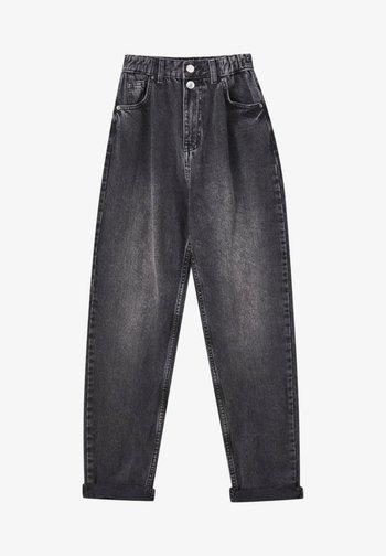 Jeans Straight Leg - mottled dark grey