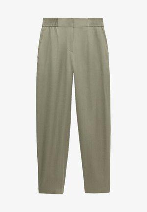 MIT BUNDFALTEN  - Spodnie materiałowe - green