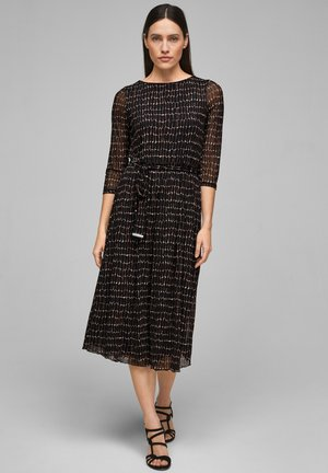 Day dress - black aop