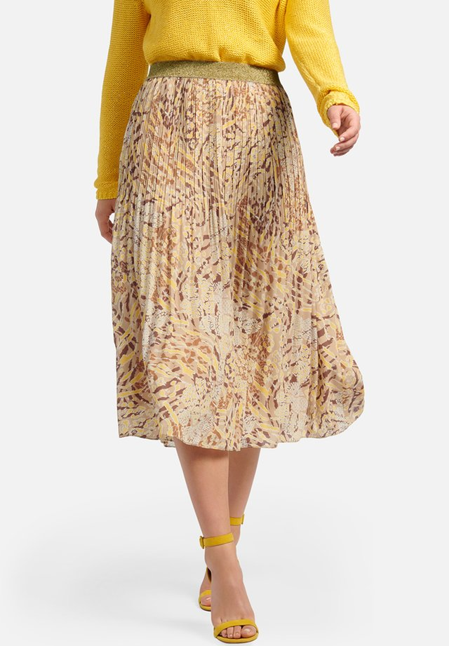 Pleated skirt - sand