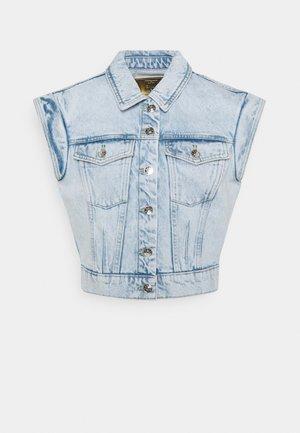 ONLBRODY SHOULD DETAIL - Waistcoat - light blue denim