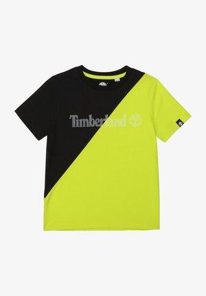 T-shirt print - noir vert
