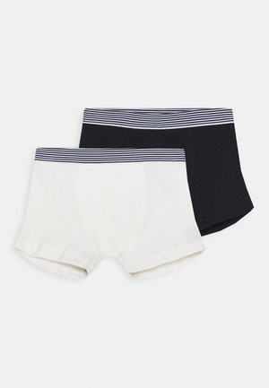 BASIC 2 PACK - Pants - dark blue/off-white