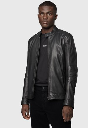 JAGSON - Leather jacket - black